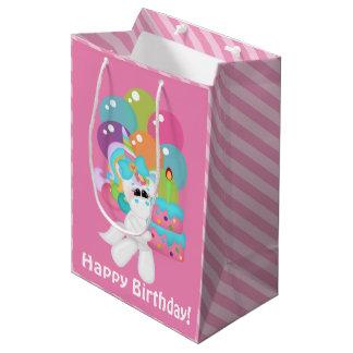 Sacola Para Presentes Média saco médio do presente do unicórnio do aniversário