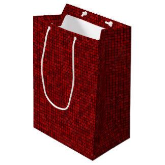 Sacola Para Presentes Média Saco vermelho do presente do pixel