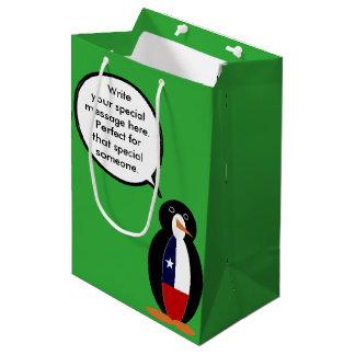 Sacola Para Presentes Média Sr. de fala chileno Pinguim