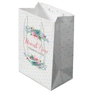 Sacola Para Presentes Média Tanque que colorido do quadro do buquê floral você
