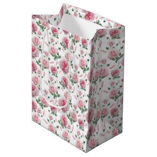 Sacola Para Presentes Média Teste padrão cor-de-rosa dos rosas do Scatter