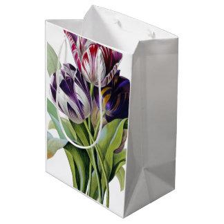 Sacola Para Presentes Média Trio das tulipas