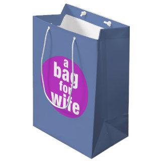 Sacola Para Presentes Média Um saco para a esposa