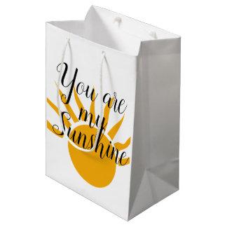 Sacola Para Presentes Média Você é meu saco do presente da luz do sol