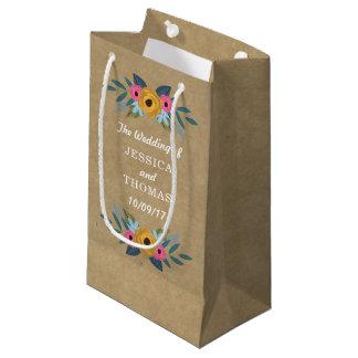 Sacola Para Presentes Pequena A coleção floral rústica do casamento da grinalda