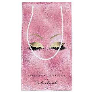 Sacola Para Presentes Pequena A composição cor-de-rosa do brilho do ouro