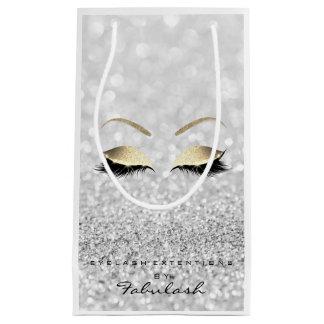 Sacola Para Presentes Pequena A composição do brilho do ouro das cinzas de prata