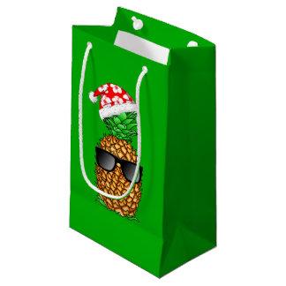 Sacola Para Presentes Pequena Abacaxi de Papai Noel