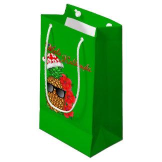 Sacola Para Presentes Pequena Abacaxi do Natal de Mele Kalikimaka