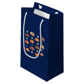 Sacola Para Presentes Pequena Abóboras com o saco lustroso pequeno do presente