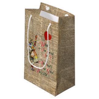 Sacola Para Presentes Pequena Alice no saco feito sob encomenda do presente das