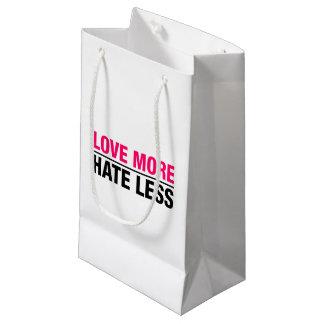 Sacola Para Presentes Pequena Ame mais ódio menos