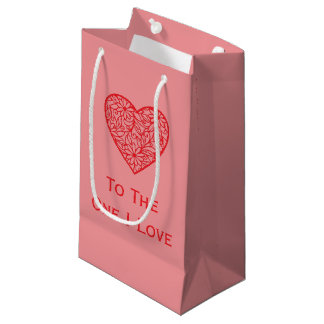 """Sacola Para Presentes Pequena Amor do I dos namorados """"coração ao um"""""""