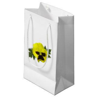 Sacola Para Presentes Pequena Amor perfeito amarelo