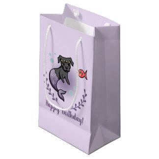 Sacola Para Presentes Pequena Aniversário do pitbull 2 da sereia