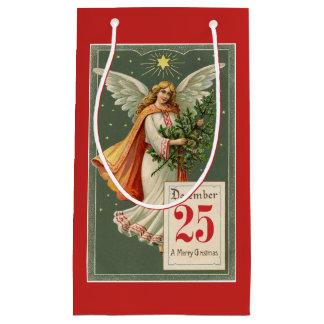 Sacola Para Presentes Pequena Anjo do natal vintage