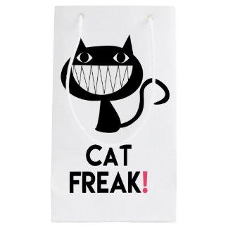 Sacola Para Presentes Pequena Anormal do gato! Saco do presente do divertimento