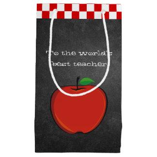 Sacola Para Presentes Pequena Apple no presente do professor do quadro ensaca
