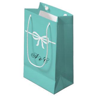 Sacola Para Presentes Pequena Aqua & as bolsas brancas do partido dos arcos