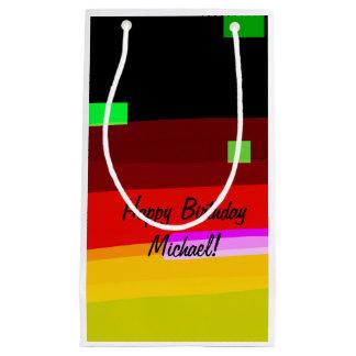 Sacola Para Presentes Pequena Arte abstracta personalizada do arco-íris