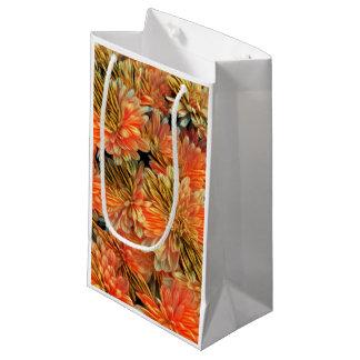 Sacola Para Presentes Pequena Arte floral colorida