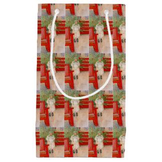 Sacola Para Presentes Pequena Árvore e criança de Natal na pele