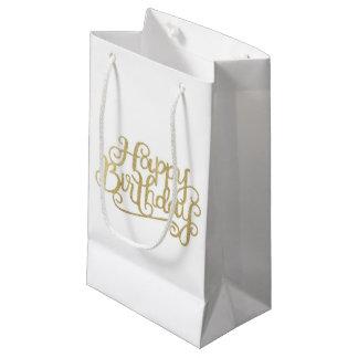 Sacola Para Presentes Pequena As bolsas do presente do feliz aniversario do ouro