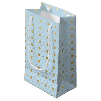 Sacola Para Presentes Pequena As bolsas geométricas do presente da folha de ouro