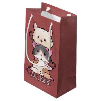 Sacola Para Presentes Pequena Aw, ratos!