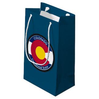 Sacola Para Presentes Pequena Bandeira da circular de Colorado
