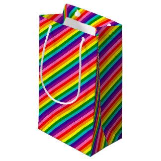 Sacola Para Presentes Pequena Bandeira das listras do original 8 do orgulho gay