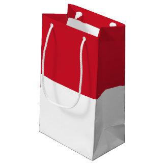 Sacola Para Presentes Pequena Bandeira de Indonésia/Monaco