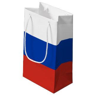 Sacola Para Presentes Pequena Bandeira de Rússia
