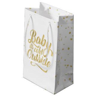 Sacola Para Presentes Pequena Bebê seu saco exterior frio do presente