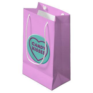 Sacola Para Presentes Pequena Beijos de doces