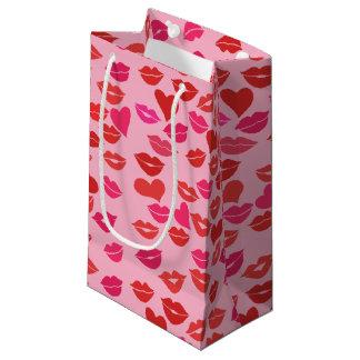 Sacola Para Presentes Pequena Beijos do dia dos namorados