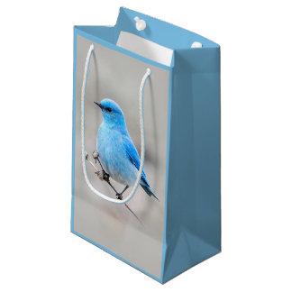 Sacola Para Presentes Pequena Bluebird bonito da montanha