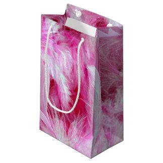 Sacola Para Presentes Pequena Boa cor-de-rosa