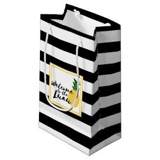 Sacola Para Presentes Pequena Boa vinda elegante de Luau do abacaxi