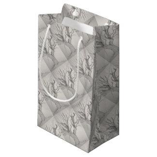 Sacola Para Presentes Pequena Bordo de prata