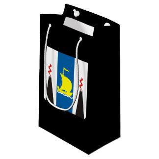 Sacola Para Presentes Pequena Brasão do oblast de Sakhalin