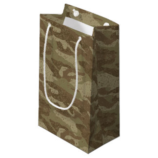 Sacola Para Presentes Pequena Camuflagem da lama