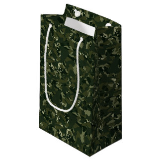 Sacola Para Presentes Pequena Camuflagem khaki disruptiva