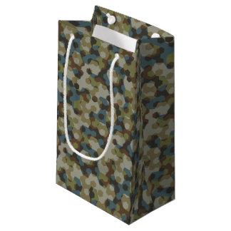 Sacola Para Presentes Pequena Camuflagem Khaki do hexágono