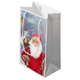 Sacola Para Presentes Pequena Cão Eskimo americano dos presentes do Natal de