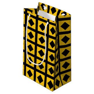 Sacola Para Presentes Pequena Carvões e quadrados do ouro
