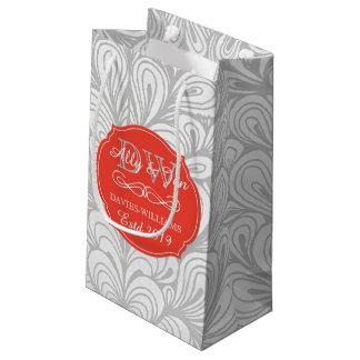 Sacola Para Presentes Pequena Casamento alegre lésbica cinzento do abstrato da