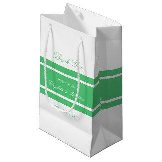 Sacola Para Presentes Pequena Casamento moderno do verde esmeralda