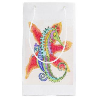 Sacola Para Presentes Pequena cavalos marinhos e saco do presente da estrela do