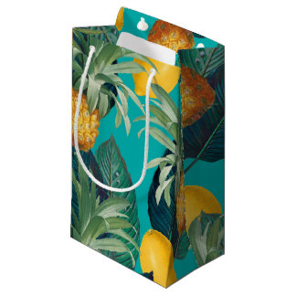 Sacola Para Presentes Pequena cerceta do pineaple e dos limões